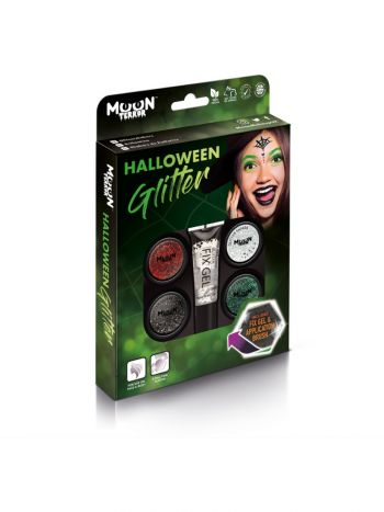Moon Terror Halloween Glitter Shakers, Assorted