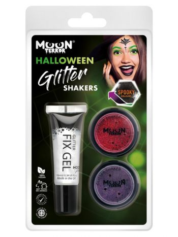 Moon Terror Halloween Glitter Shakers,