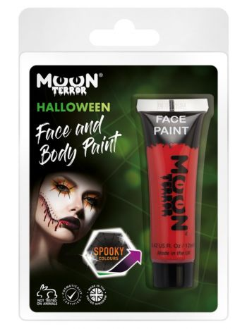 Moon Terror Halloween Face & Body Paint, Red