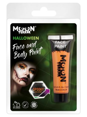 Moon Terror Halloween Face & Body Paint, Orange