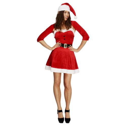 Fever Santa Babe Costume, Red