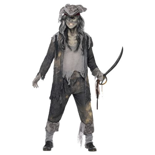 Ghost Ship Ghoul Costume, Grey