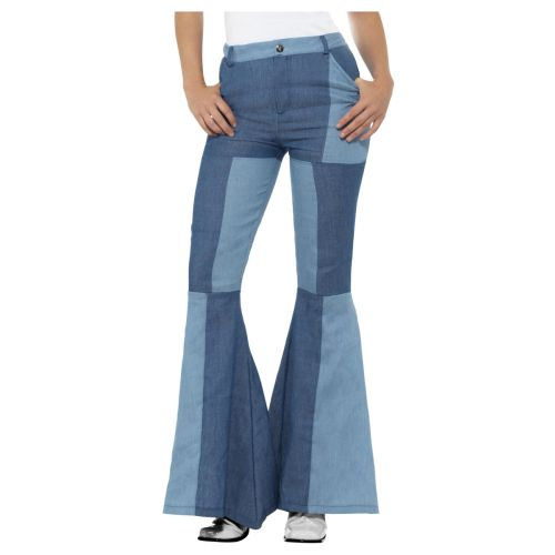 70s Deluxe Flared Trousers, Ladies, Blue