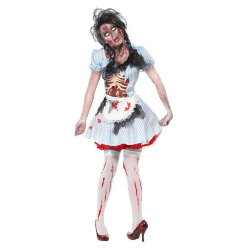Horror Zombie Countrygirl Costume, Blue