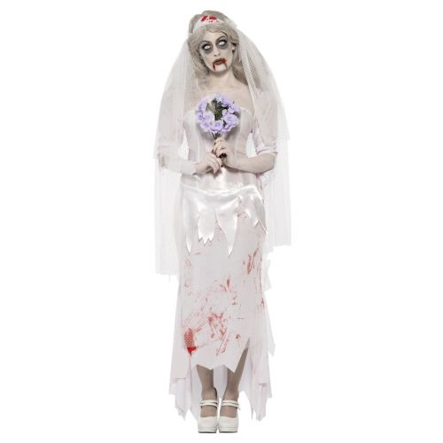 Till Death Do Us Part Zombie Bride Costume, White