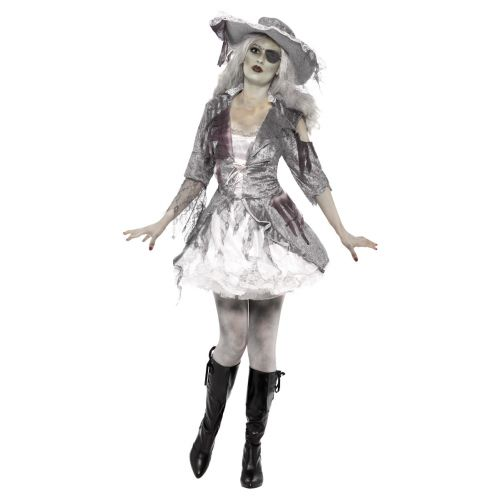 Ghost Ship Pirate Treasure Costume, Grey