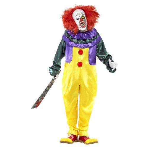 Classic Horror Clown Costume, Multi-Coloured