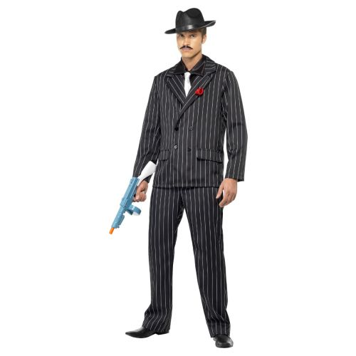 Zoot Suit Costume, Male, Black