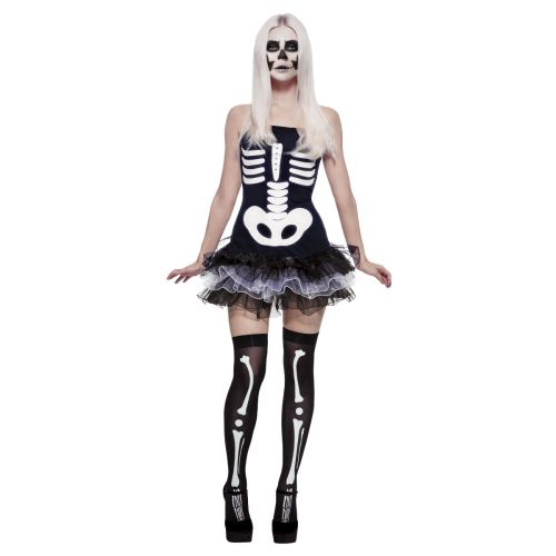Fever Skeleton Costume, Black