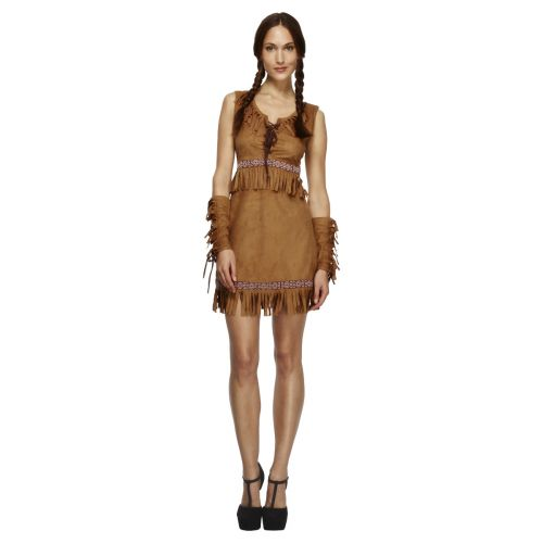 Fever Pocahontas Costume, Brown