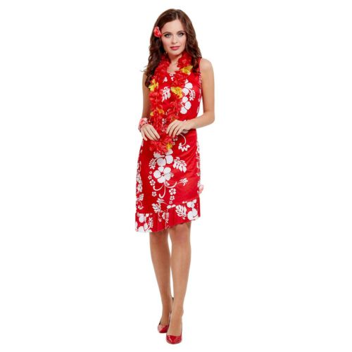 Hawaiian Beauty Costume, Red