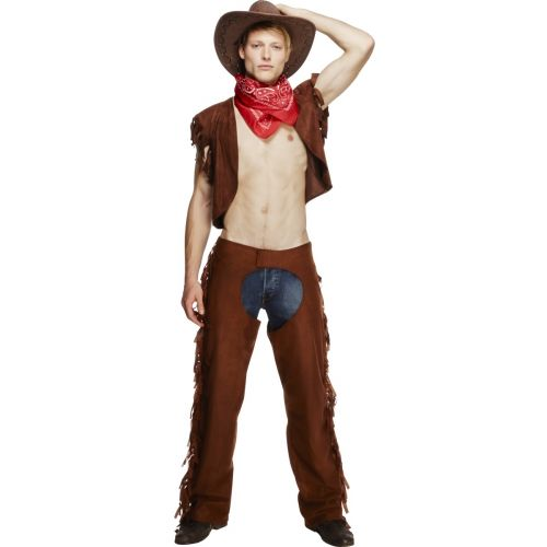 Fever Male Ride Em High Cowboy Costume, Brown