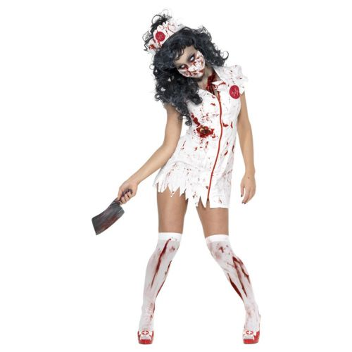 Zombie Nurse Costume, White