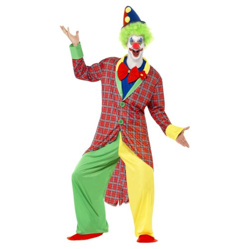 Deluxe La Circus Clown Costume, Multi-Coloured