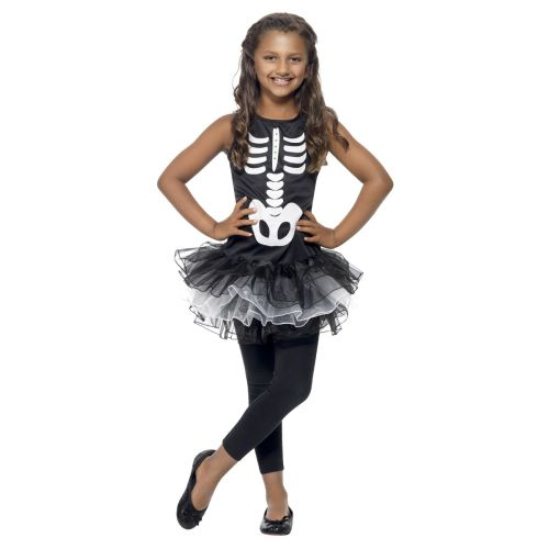 Skeleton Tutu Costume, Black