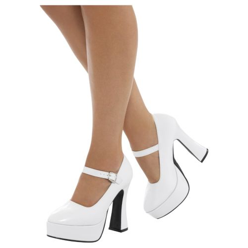 70s Ladies Platform Shoes, White
