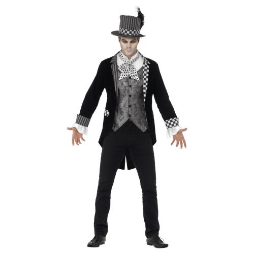 Deluxe Dark Hatter Costume, Black