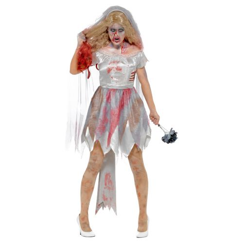Deluxe Zombie Bride Costume, Grey