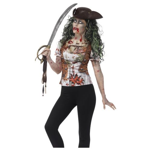 Zombie Pirate Wench T-Shirt, Green