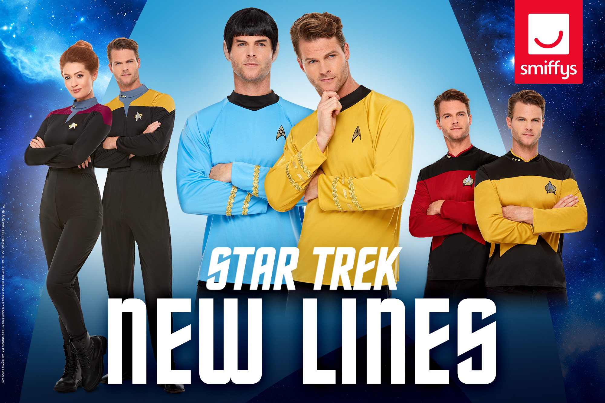 SMIFFYS IS PLEASED TO ANNOUNCE NEW OFFICIAL STAR TREK LINES