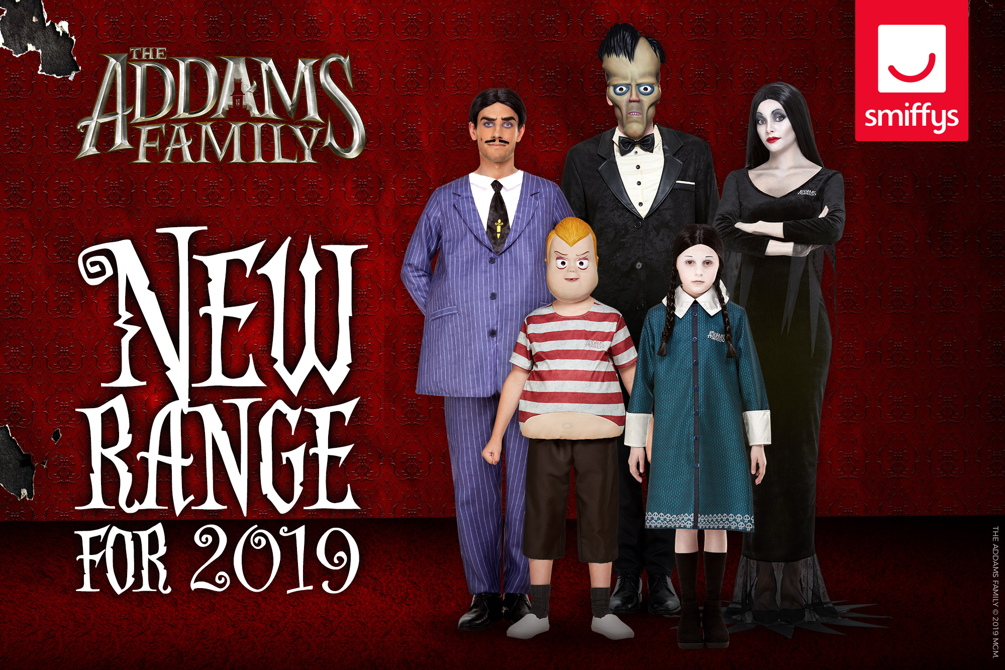 SMIFFYS PARTNERS WITH MGM ON FANTASTICALLY SPOOKY LINE OF THE ADDAMS FAMILY COSTUMES