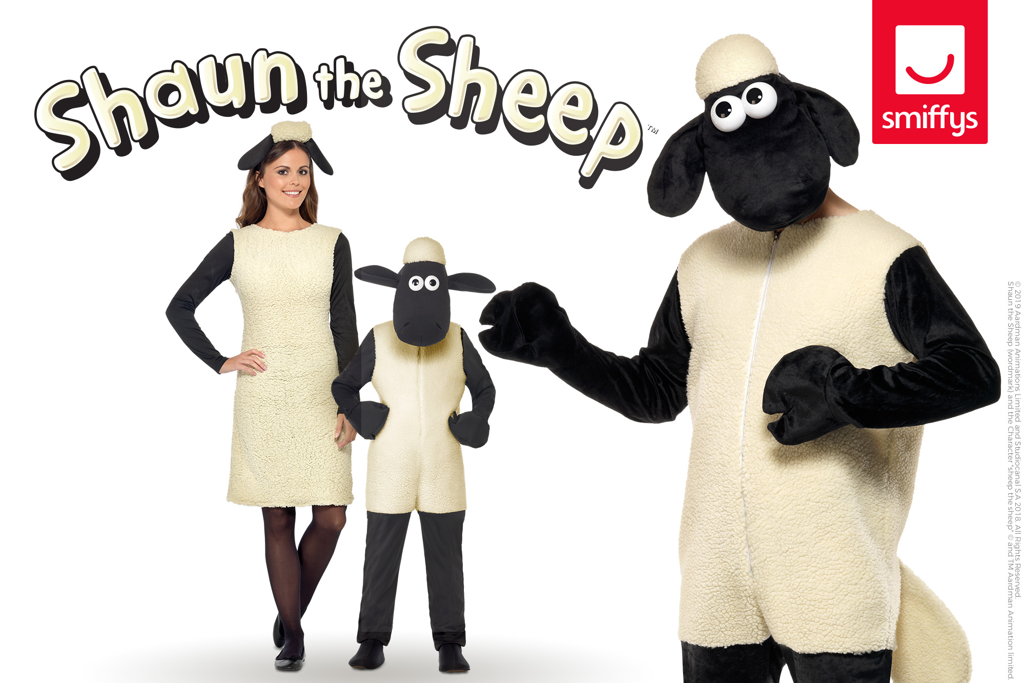 SMIFFYS SHAUN THE SHEEP DRESS-UP RANGE CELEBRATES THE UK RELEASE OF THE SHAUN THE SHEEP MOVIE: FARMAGEDDON